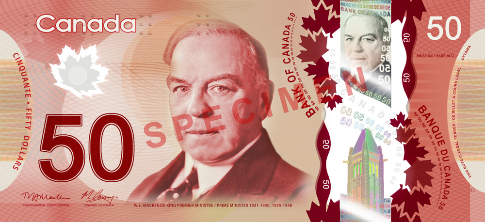 50 Bank note copy Bank of Canada