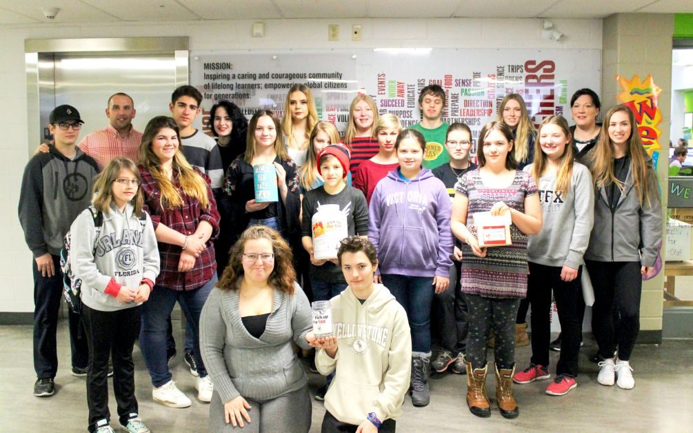 Submitted - DVSS student council collect pop can tabs for Ronald McDonald House