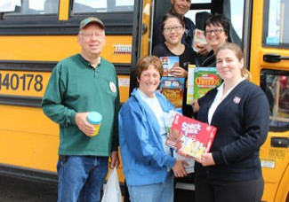 Donate to Stuff the Bus until 4 p.m. Thursday