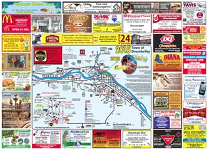 2015 Drumheller Tourist Map