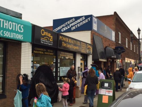 The 2014 Downtown Trick or Treating is well underway