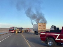 Tri Line Carriers Truck Fire