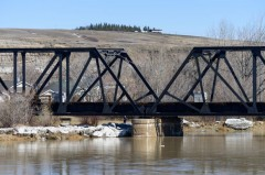 The Red Deer River that runs through Drumheller has been closely monitored within the last few months as water levels continue to rise during the spring melt. Mailphoto by Terri Huxley