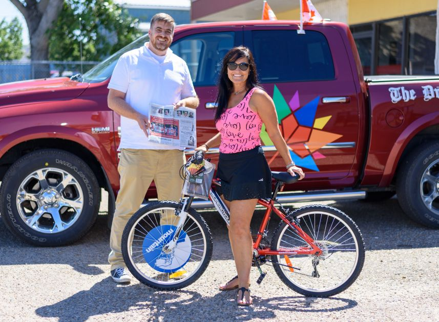The Drumheller Mail's Canada Day flag and bike contest got their second winner to claim their prize.