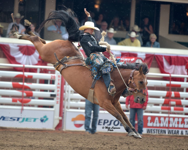 Zeke Thurston's 92 point ride on 'Get Smart' during the Calgary Stampede rodeo finals on Sunday, July 16.