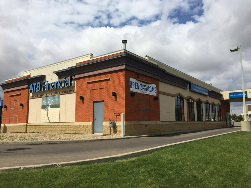 The ATB Financial Drumheller branch on August 4, 2017