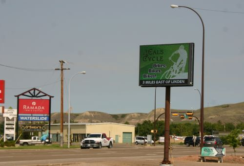 Drumheller outdoor sign